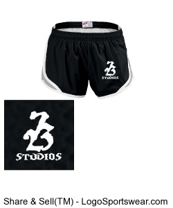 Youth Girls Team Shorty Shorts by MJ Soffe Design Zoom